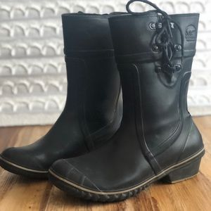 SOREL CONQUEST CARLY GLOW BOOT WOMENS SIZE 8 BLACK